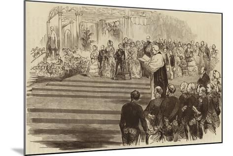 Opening of the Crystal Palace, the Archbishop's Prayer, 1854--Mounted Giclee Print