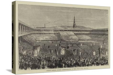 Sunday School Jubilee Commemoration at the Piece Hall, Halifax--Stretched Canvas Print