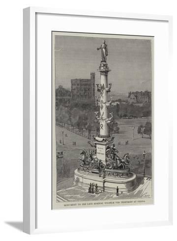 Monument to the Late Admiral Wilhelm Von Tegethoff at Vienna--Framed Art Print