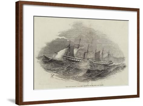 The Great Britain Steam-Ship, Struck by the Sea, Off Lundy Island--Framed Art Print