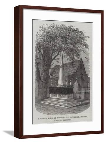 Waller's Tomb at Beaconsfield, Buckinghamshire, Recently Restored--Framed Art Print
