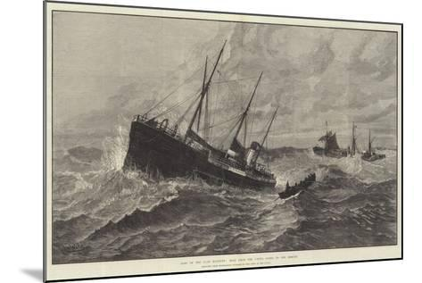 Loss of the Clan Macduff, Boat from the Upupa Going to the Rescue--Mounted Giclee Print