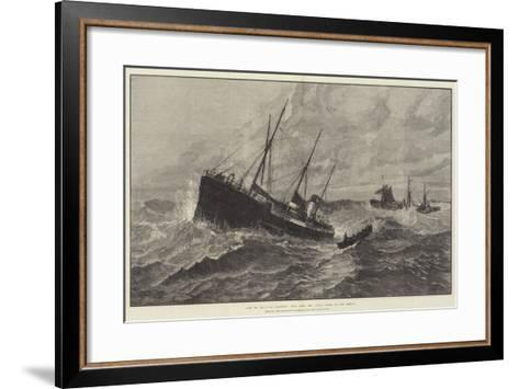Loss of the Clan Macduff, Boat from the Upupa Going to the Rescue--Framed Art Print