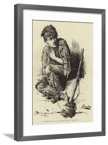 Miss Jennie Lee as Jo, in the New Dramatic Version of Bleak House--Framed Art Print