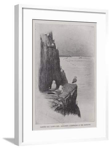Gamper Bay, Land's End, Longships Lighthouse in the Distance--Framed Art Print