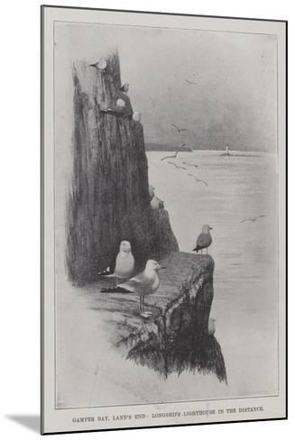 Gamper Bay, Land's End, Longships Lighthouse in the Distance--Mounted Giclee Print