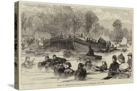 Trial of Life-Saving Apparatus on the Serpentine, Hyde Park--Stretched Canvas Print