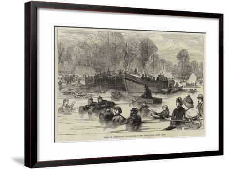 Trial of Life-Saving Apparatus on the Serpentine, Hyde Park--Framed Art Print
