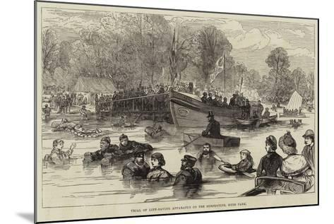 Trial of Life-Saving Apparatus on the Serpentine, Hyde Park--Mounted Giclee Print