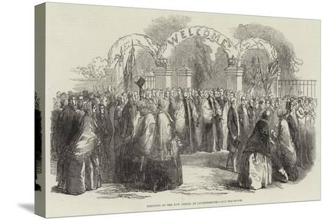 Founding of the New School at Loughborough, the Procession--Stretched Canvas Print