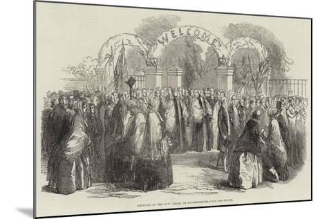 Founding of the New School at Loughborough, the Procession--Mounted Giclee Print