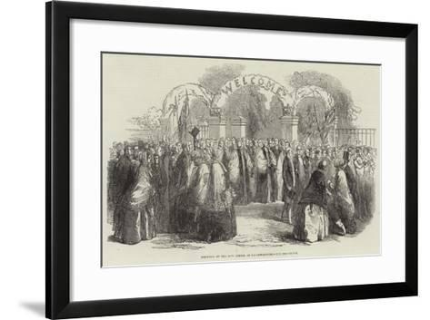 Founding of the New School at Loughborough, the Procession--Framed Art Print