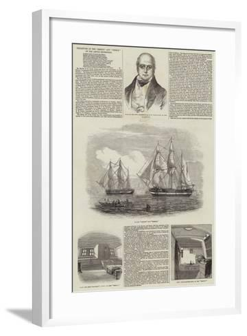 Departure of the Erebus and Terror on the Arctic Expedition--Framed Art Print