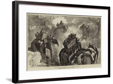 The Prince of Wales in the Terai, Crossing a Nullah in the Jungle--Framed Art Print