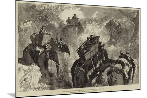 The Prince of Wales in the Terai, Crossing a Nullah in the Jungle--Mounted Giclee Print