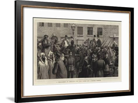 A Reminiscence of Gibraltar, the Main Street on a Hunting Morning--Framed Art Print