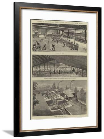 Scenes at an Australian Sheep Station, Collaroy, New South Wales--Framed Art Print