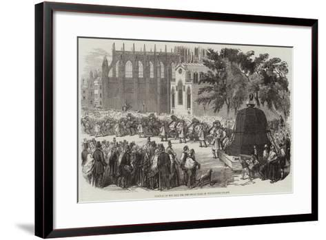 Removal of the Bell for the Great Clock of Westminster Palace--Framed Art Print