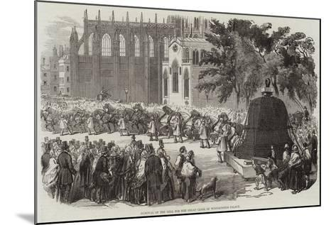 Removal of the Bell for the Great Clock of Westminster Palace--Mounted Giclee Print
