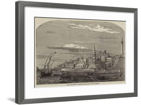 Malta, the Port of Valetta, from the Front of the Lazaretto--Framed Art Print