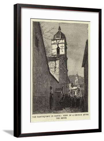 The Earthquake in Zante, View of a Church after the Shock--Framed Art Print