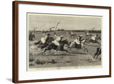 The Home of Polo-Natives of Manipur Playing the National Game--Framed Art Print