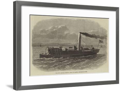 The New Gun-Boat Staunch, Built at Elswick, Newcastle-On-Tyne--Framed Art Print