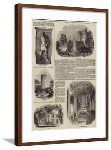 Meeting of the British Archaeological Association at Warwick--Framed Art Print