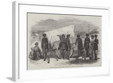 Sholapore Native (Indian) Police in Charge of a Hindoo Rebel--Framed Art Print