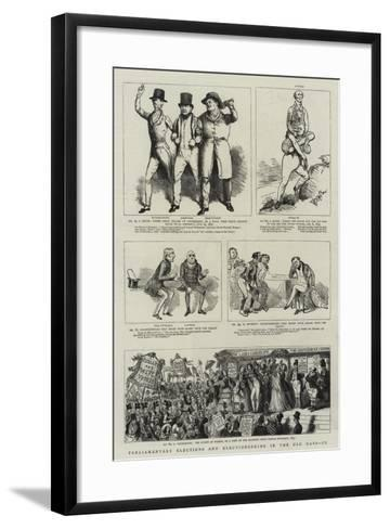 Parliamentary Elections and Electioneering in the Old Days--Framed Art Print