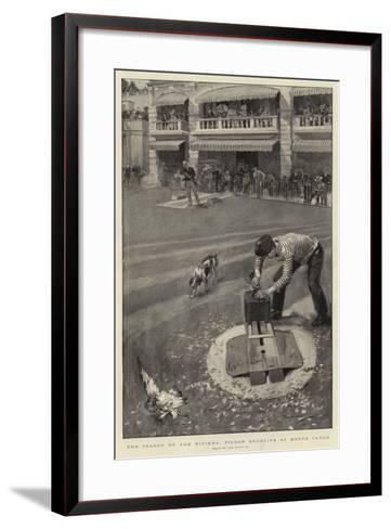 The Season on the Riviers, Pigeon Shooting at Monte Carlo--Framed Art Print