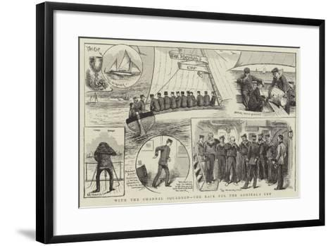 With the Channel Squadron, the Race for the Admiral's Cup--Framed Art Print