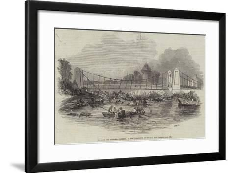 Fall of the Suspension Bridge, at New Yarmouth, on Friday, 2 May--Framed Art Print