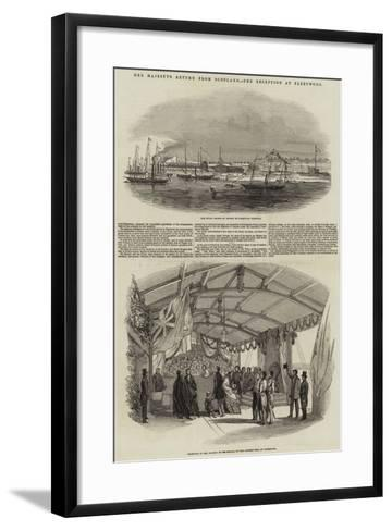 Her Majesty's Return from Scotland, the Reception at Fleetwood--Framed Art Print