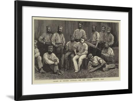 Cricket in Western Australia, the New Norcia Aboriginal Team--Framed Art Print