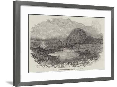 Wreck of the Royal Mail Steam-Ship, Quito, on a Rock, Near Huasco--Framed Art Print