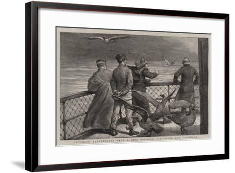 Catching Albatrosses with a Line Between Vancouver and Yokohama--Framed Art Print