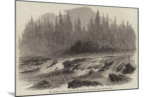 The Laughing Waters Rapids, on the Puntledge, Vancouver Island--Mounted Giclee Print