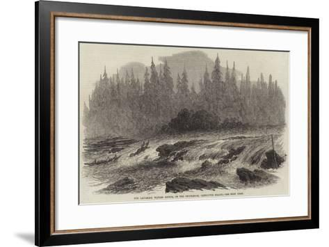 The Laughing Waters Rapids, on the Puntledge, Vancouver Island--Framed Art Print