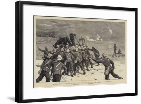 After the Battle, Kassassin, 9 September, the Rush for Water--Framed Art Print