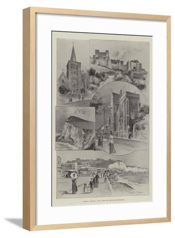 Rambling Sketches, Dover, Where the British Association Met--Framed Art Print