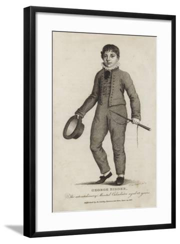 George Bidder, the Extraordinary Mental Calculator, Aged 12 Years--Framed Art Print