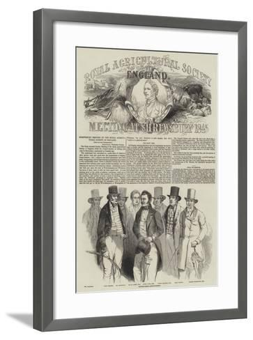 Shrewsbury Meeting of the Royal Agricultural Society of England--Framed Art Print