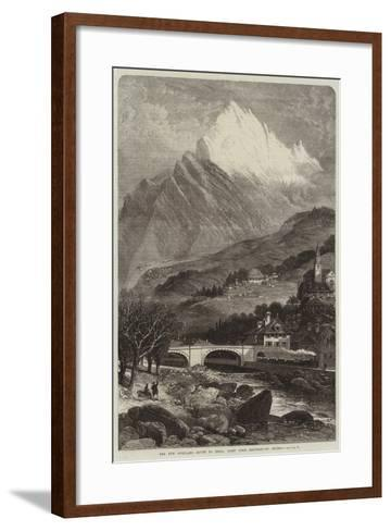 The New Overland Route to India, Mont Cenis Railway, St Michel--Framed Art Print