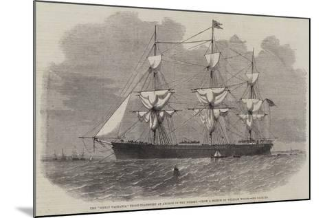 The Great Tasmania Troop-Transport an Anchor in the Mersey--Mounted Giclee Print