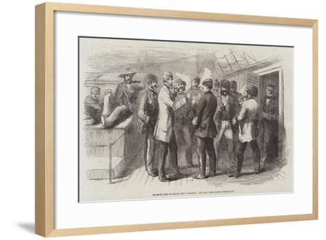 Drawing Lots on Board the Valetta, for the Vans across the Desert--Framed Art Print