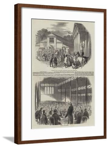 Shrewsbury Meeting of the Royal Agricultural Society of England--Framed Art Print