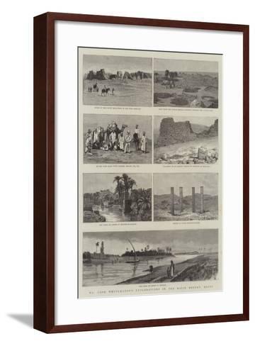 Mr Cope Whitehouse's Explorations in the Raian Desert, Egypt--Framed Art Print