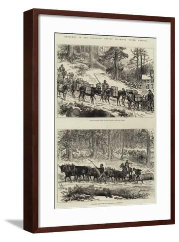 Sketches in the Colorado Mining Districts, North America--Framed Art Print