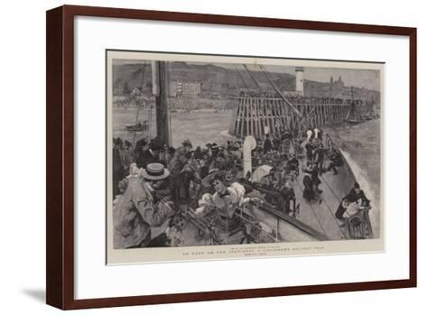An Hour on the Continent, a Londoner's Holiday Trip--Framed Art Print